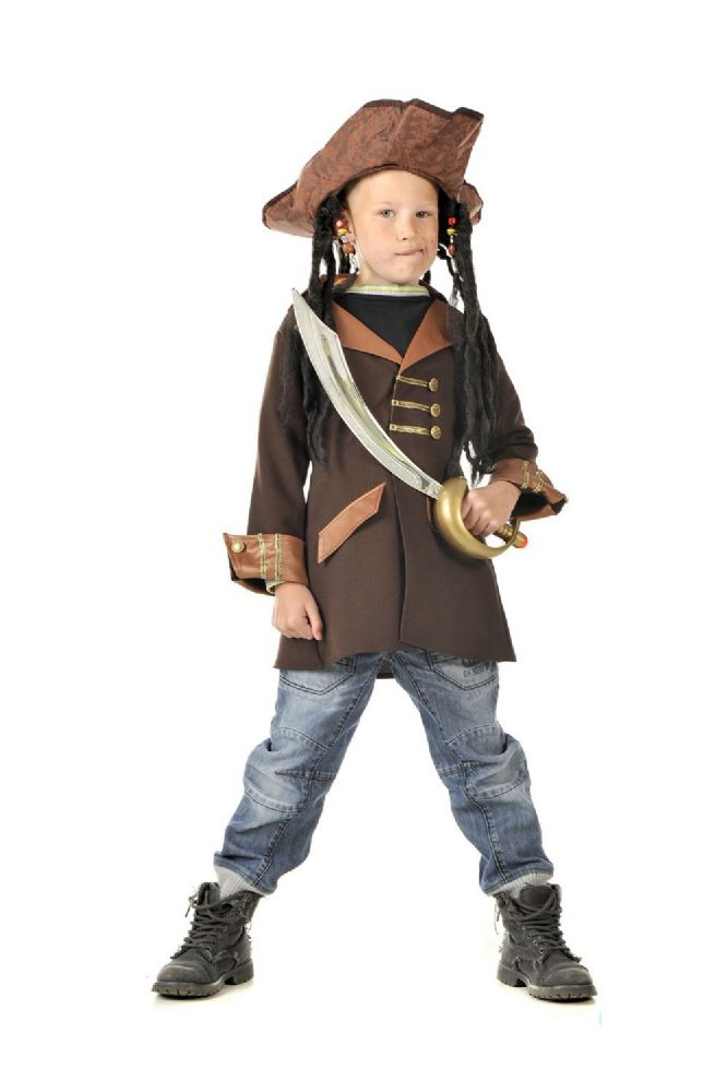 Children S Boys Captain Jack Sparrow Pirate Fancy Dress Up